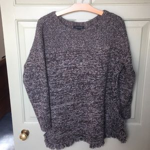 Ann Taylor Brown Marled Tunic Sweater